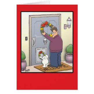 Tarjeta de Navidad divertida de la guirnalda del