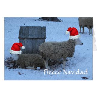 Tarjeta de Navidad divertida de las ovejas de la