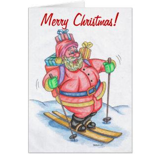 Tarjeta de Navidad divertida de Papá Noel