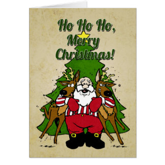 Tarjeta de Navidad divertida de Santa
