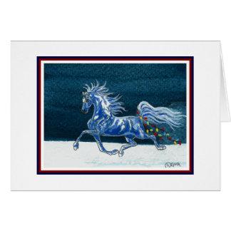 Tarjeta de Navidad divertida del caballo
