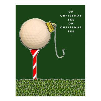 tarjeta de navidad divertida del golf