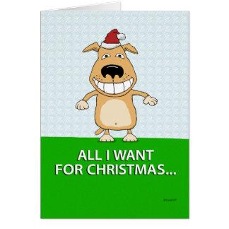 Tarjeta de Navidad divertida del perro