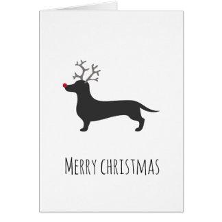 Tarjeta de Navidad divertida del reno del