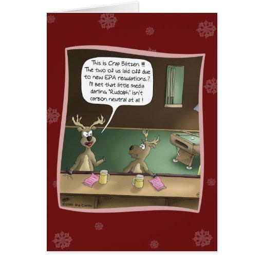 Tarjeta de Navidad divertida: El despido