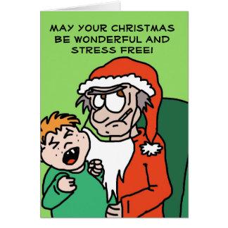 Tarjeta de Navidad divertida gruñona de Santa