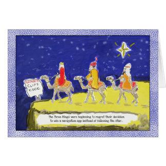 Tarjeta Tarjeta de Navidad divertida: Los tres reyes