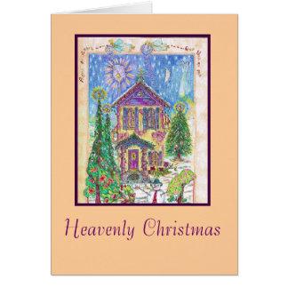 Tarjeta de Navidad divina