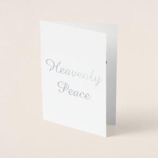 Tarjeta de Navidad divina de la paz