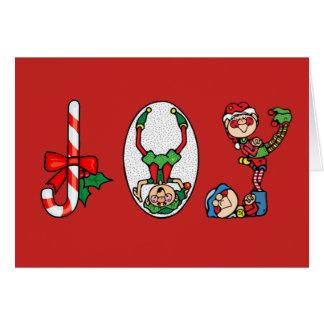 Tarjeta de Navidad--Duendes de la alegría