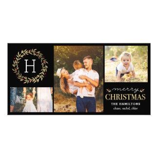 Tarjeta de Navidad Editable del color del