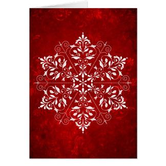 Tarjeta de Navidad elegante del copo de nieve
