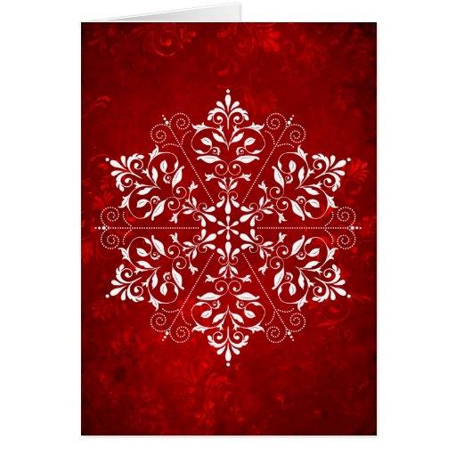 Tarjeta de navidad elegante del copo de nieve zazzle - Tarjetas de navidad elegantes ...