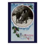 Tarjeta de Navidad escarchada del invierno del