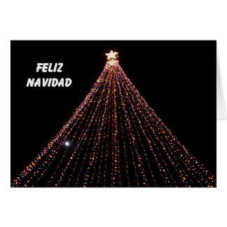 Tarjeta de Navidad española -- Árbol de luces