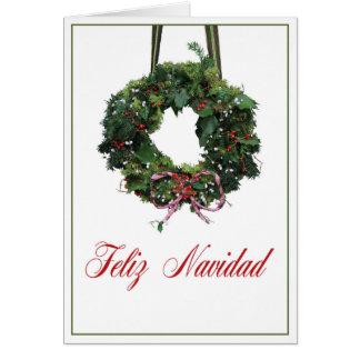 Tarjeta de Navidad española de Feliz Navidad