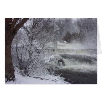 Tarjeta de Navidad espiritual de la cascada