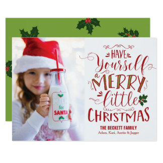 Tarjeta de Navidad - Felices pequeños Navidad Invitación 12,7 X 17,8 Cm