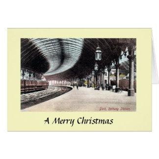Tarjeta de Navidad - ferrocarril de York
