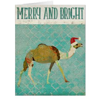 Tarjeta de Navidad festiva del camello