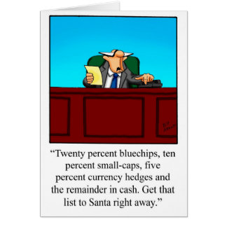 Tarjeta de Navidad financiera divertida del humor