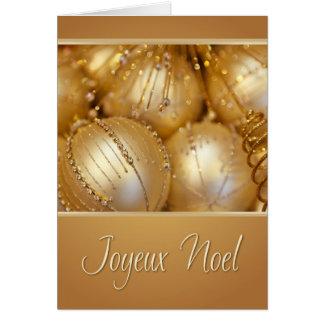 Tarjeta de Navidad francesa de Joyeux Noel