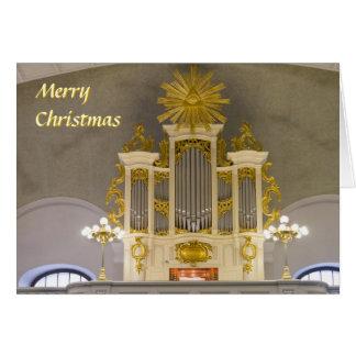 Tarjeta de Navidad francesa de la iglesia de