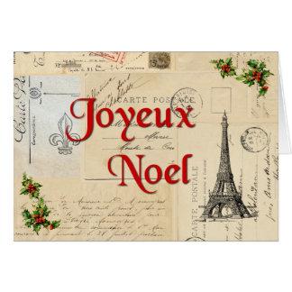 Tarjeta de Navidad francesa de las postales de Par