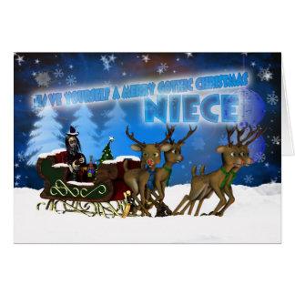 Tarjeta de Navidad gótica de la sobrina, H.I.P. Y