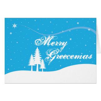 Tarjeta de Navidad griega - divertida - feliz