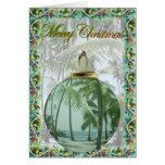 Tarjeta de Navidad hawaiana de la playa