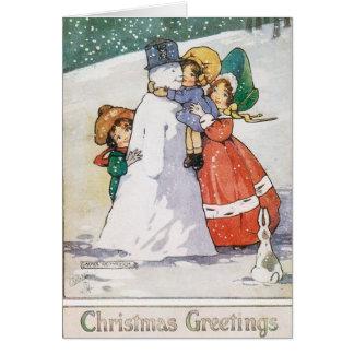 Tarjeta de Navidad hermosa de los años 20