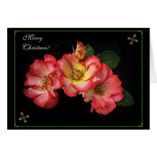 ¡Tarjeta de Navidad hermosa de los rosas 2014! Tarjeta De Felicitación