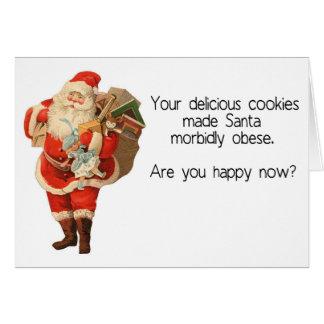 Tarjeta de Navidad hilarante de Santa