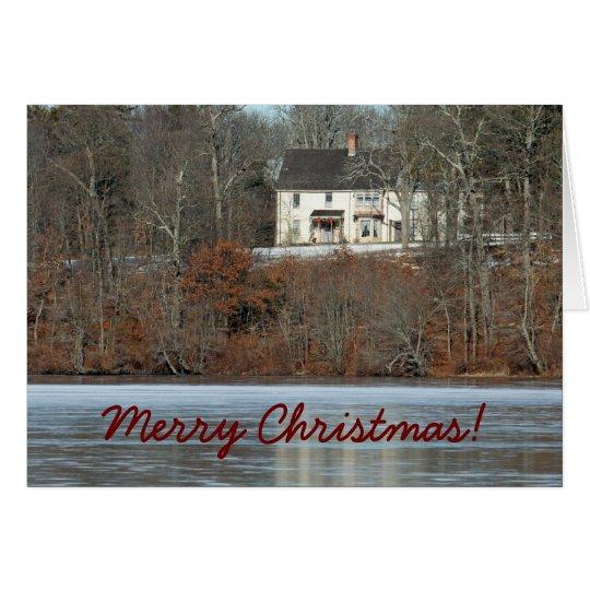 Tarjeta de Navidad histórica de la casa