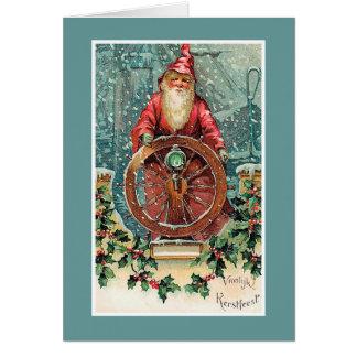 Tarjeta de Navidad holandesa del vintage de