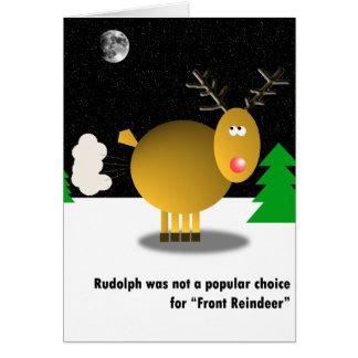 Tarjeta de Navidad impopular
