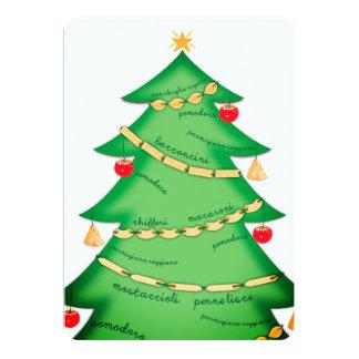 Tarjeta de Navidad italiana del restaurante de la
