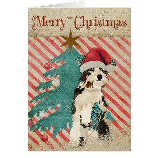 Tarjeta de Navidad lamentable del perro