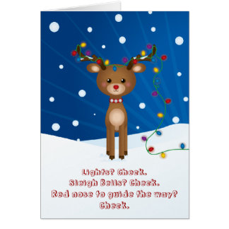 Tarjeta de Navidad linda, divertida