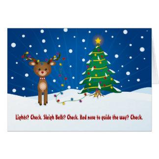 Tarjeta de Navidad linda, divertida Tarjeta De Felicitación