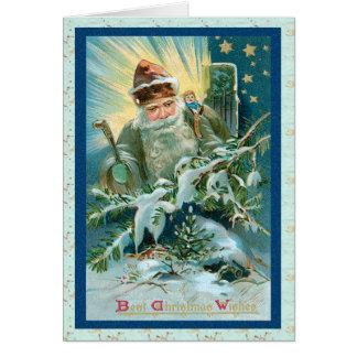 Tarjeta de Navidad mágica de Papá Noel
