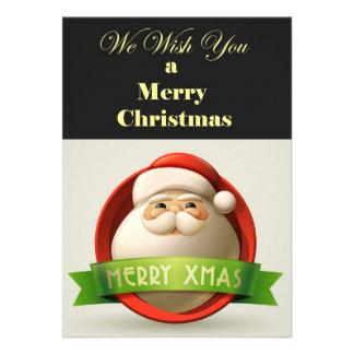 tarjeta de Navidad moderna Comunicado Personalizado