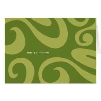 Tarjeta de Navidad moderna - verde