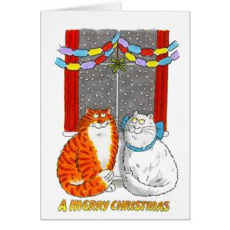 Tarjeta de Navidad - muérdago