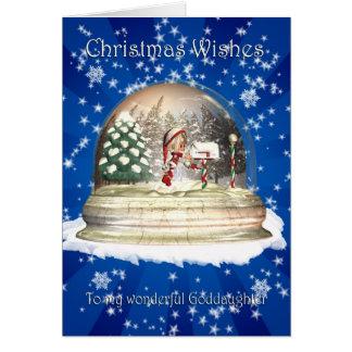 Tarjeta de Navidad, navidad de la ahijada, duende
