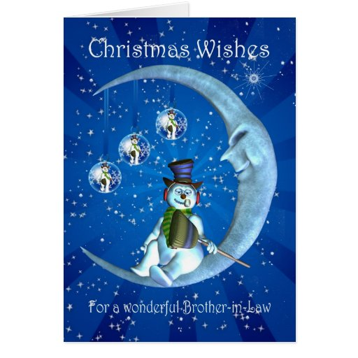Tarjeta de Navidad, navidad del cuñado, muñeco de