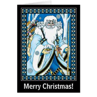 Tarjeta de Navidad: Navidad del padre con los rega