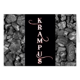 Tarjeta de Navidad negra del carbón de Krampus