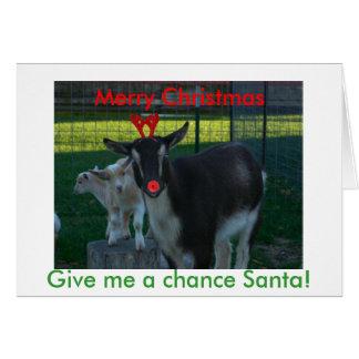 Tarjeta de Navidad nigeriana de la cabra